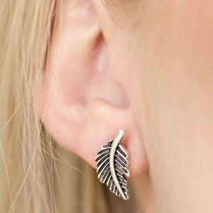 Flying Feathers - Silver Earrings